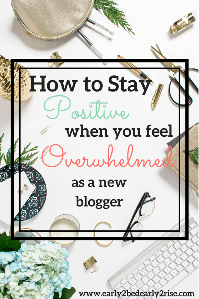 How to Stay on Track when you're overwhelmed as a new blogger