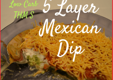 Healthy Low Carb 5 Layer Mexican Dip