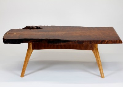 Flame Coffee Table with Live Edge
