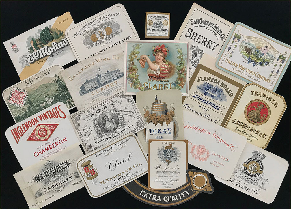 Wine labels, 1870 to c. 1910
