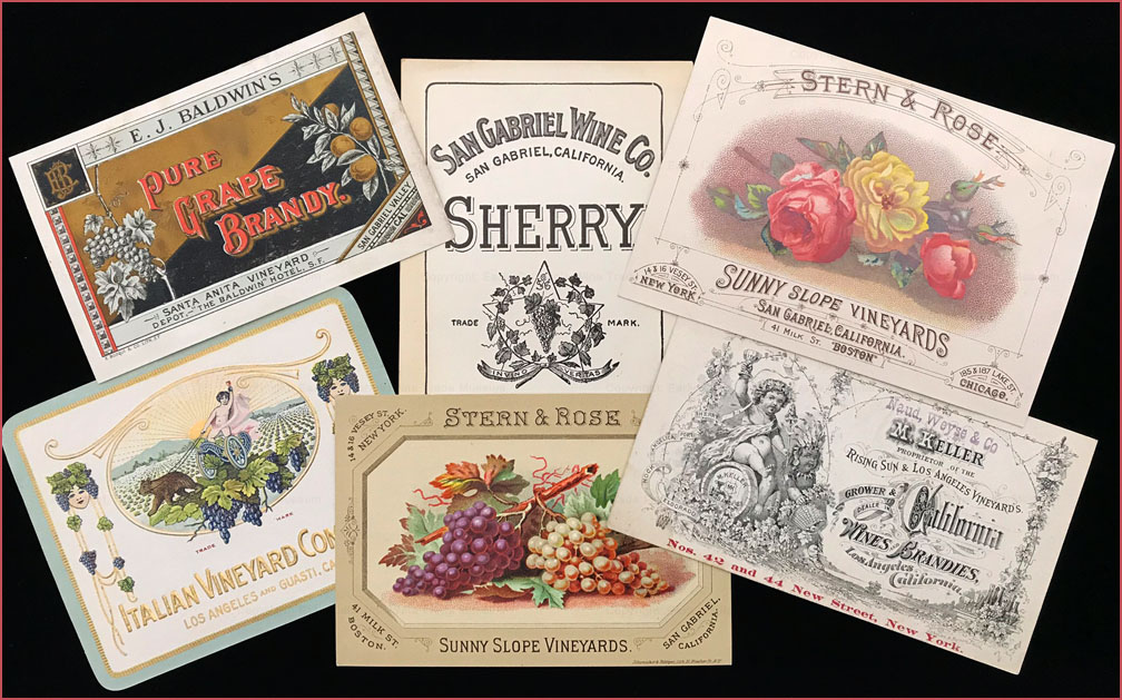 Wine labels & trade cards