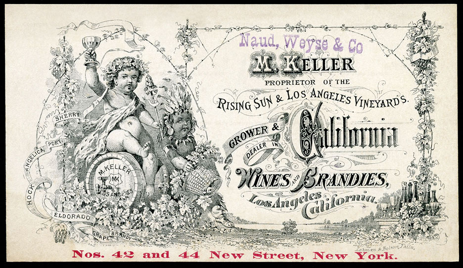 Keller's finely engraved trade card