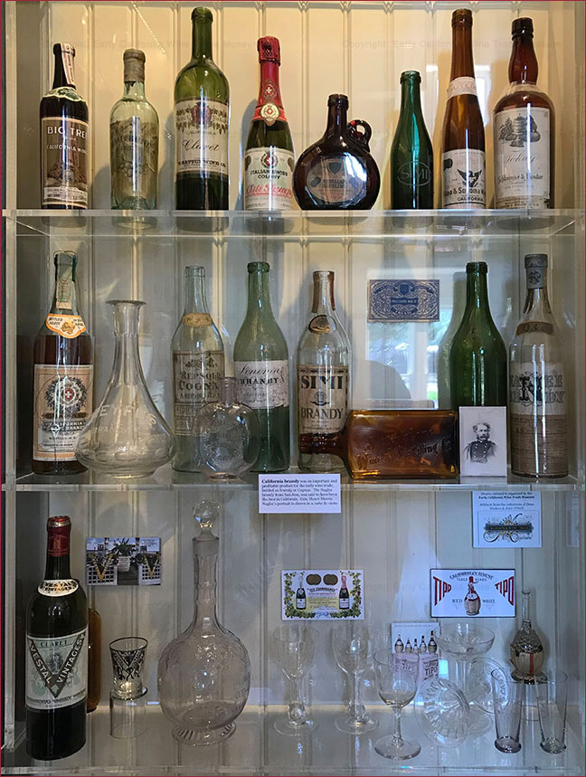 Pre-Prohibition wine bottles & advertising glassware