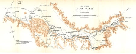 Map of the Lycus Valley from William M. Ramsay, The Church in the Roman Empire Before AD 170