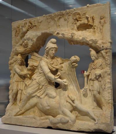 Mithras killing the bull (c.150 AD)
