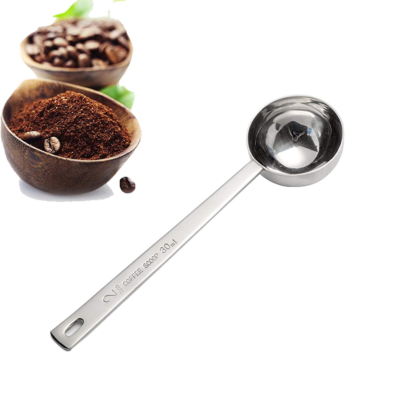 Coffee Scoop, Endurance Metal 304 Stainless Steel 2 Tablespoon Measuring Coffee Scoop, Set of 2 (Stainless Steel)
