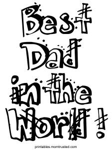 dad in the world free sheet dad 225x300