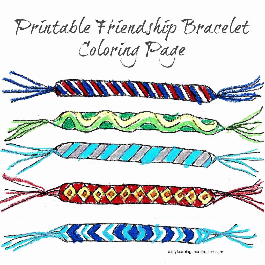 Friendship Bracelet Printable Coloring Page