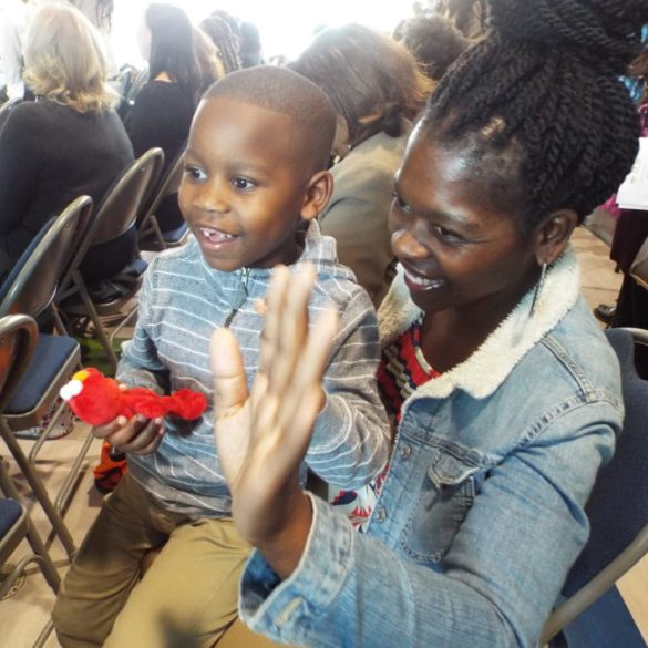 Dozens of grown-ups crowded into a Memphis early childhood center to celebrate a new partner in educating the city's youngest learners: Elmo and Sesame Street.
