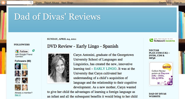 Read the full article about Early Lingo at Dad of Divas Reviews