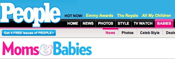 People Magazine: Celebrity Baby Blog Article about Early Lingo