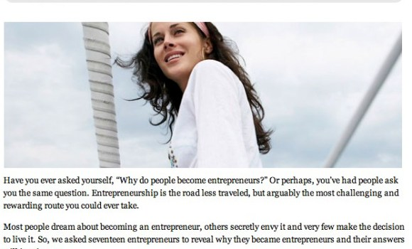 YFS Magazine: 17 Reasons Why I Became an Entrepreneur