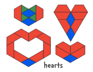 valentine's day math play with blocks