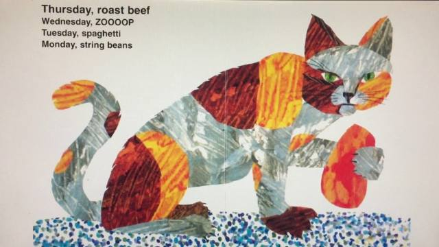 eric carle books, today is monday