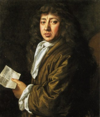 Samuel Pepys holding music, in a portrait by John Hayls in 1666. Pepys was an avid collector of broadside ballads, to the extent that his huge personal collection now forms an important corpus of our knowledge of the genre.