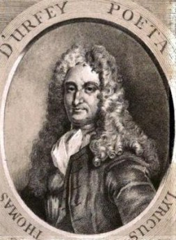 Thomas D'Urfey as depicted in his Wit and Mirth: Or Pills to Purge Melancholy, published in six volumes between 1698 and 1720.