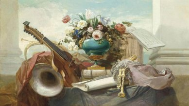 Violin and other Instruments, Godefroy, 1862