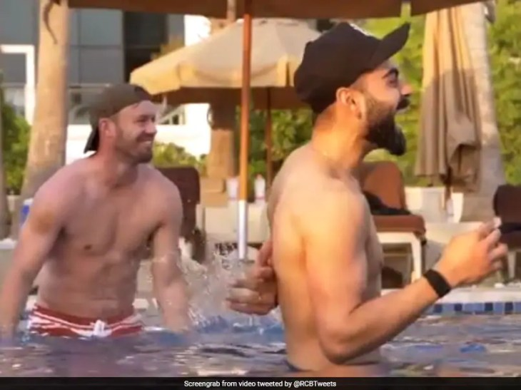 IPL 2020: Virat Kohli, Other RCB Stars Relax Playing Pool Volleyball After Intense Matches In Dubai