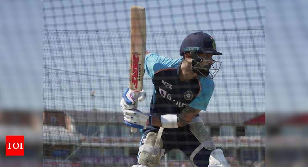 Virat Kohli has a hit at the nets as Indians play warm-up game   Cricket News
