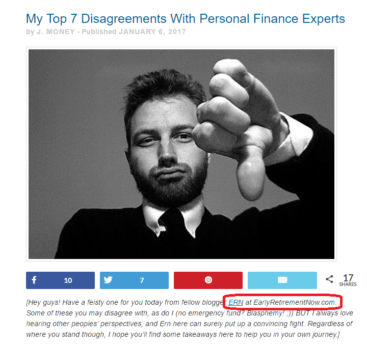Guest Post on Budgets are Sexy: My Top 7 Disagreements With Personal Finance Experts