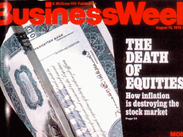 The Death of Equities Magazine Cover