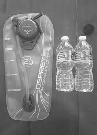 Water bladder and bottles