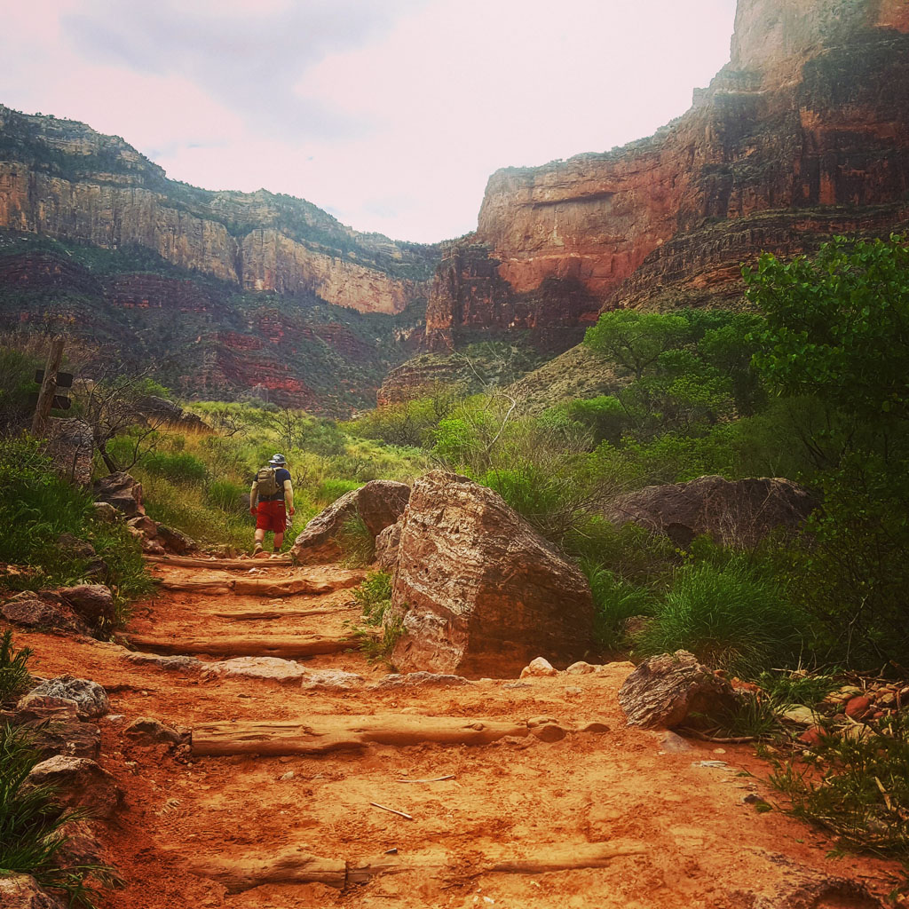 Ascending Bright Angel Trail from Indian Garden
