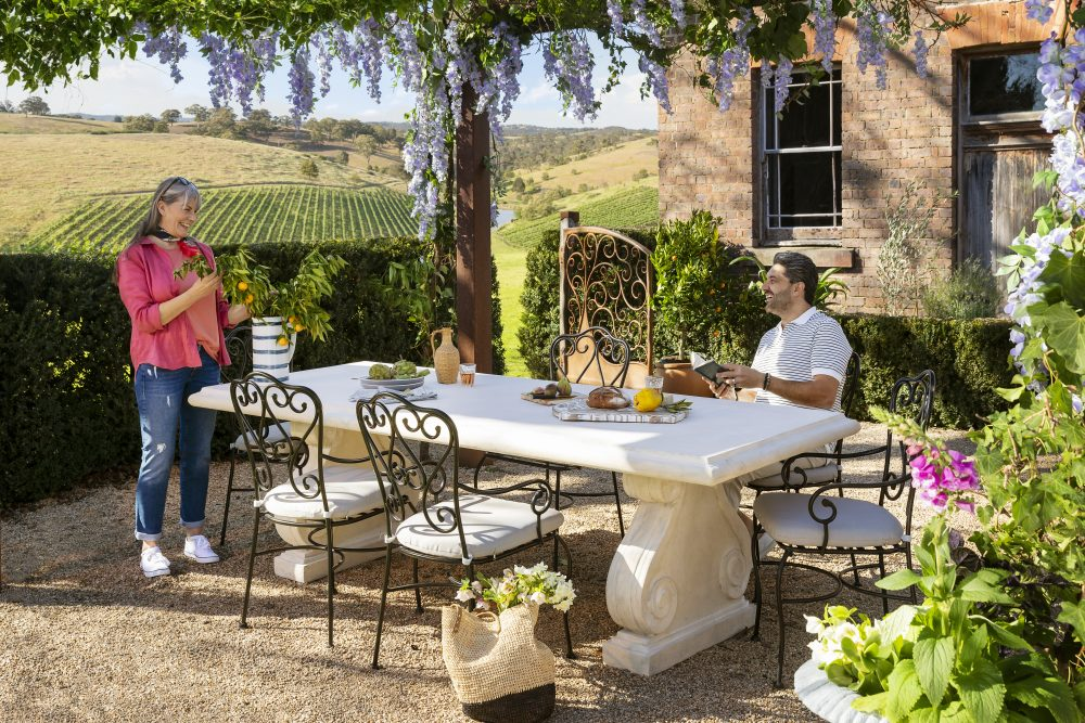 Outdoor furniture style trends for 2019 with the Roman Stone & Manette