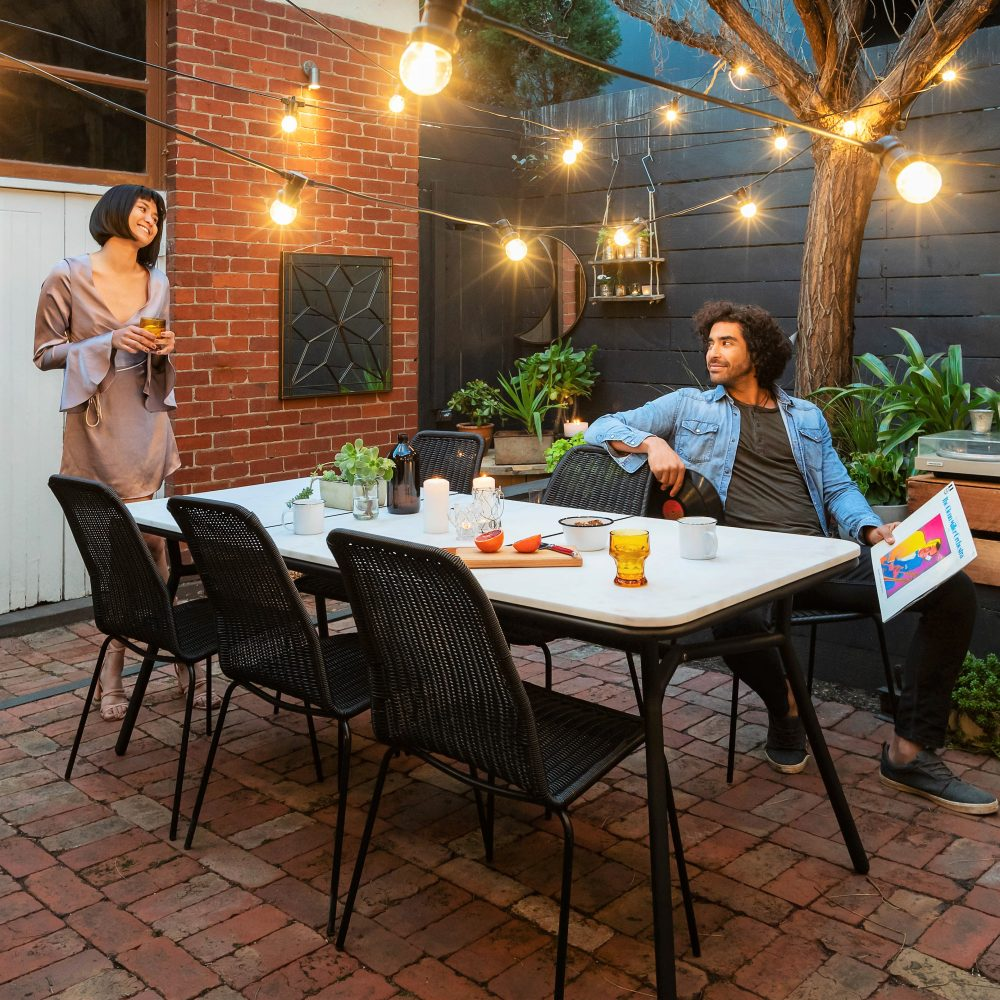 Dress up your deck with Marble Inlay and Cera chairs