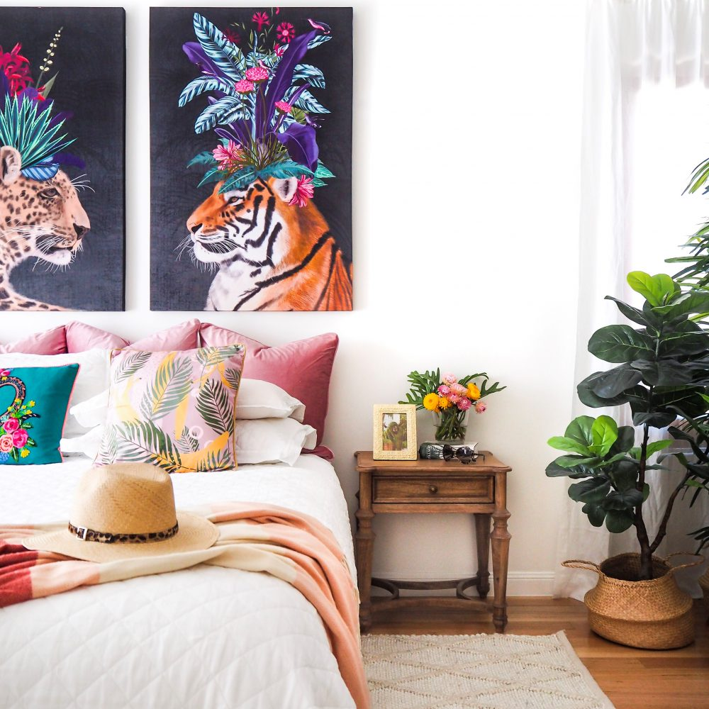 Interior design trends 2019 with the Arthouse Tropical Tiger Canvas