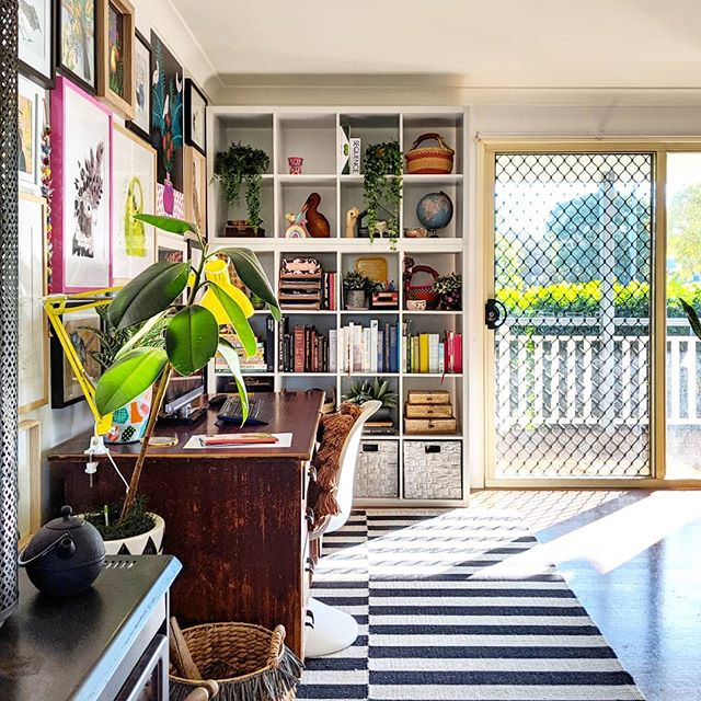 The Hectic Eclectic's Boho Maximalism in the study