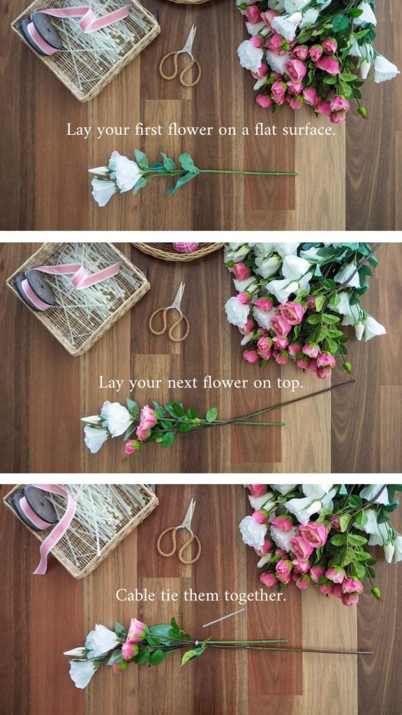 Create a Floral Christmas Wreath step 2