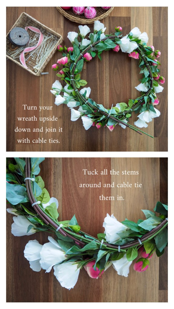 Create a Floral Christmas Wreath step 5