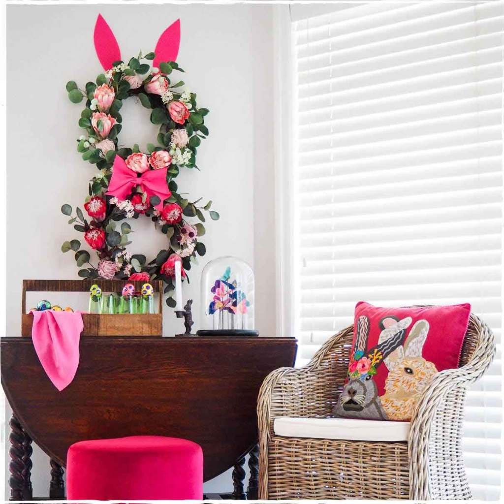 Decorate your Easter wreaths - Easter bunny