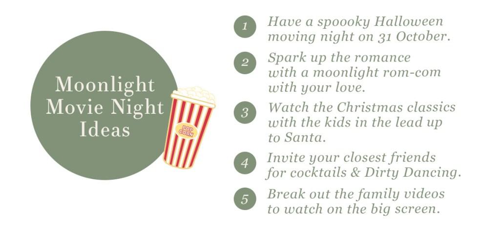 Make your own moonlight cinema —movie night ideas