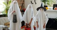 Halloween at home 3 ghosts