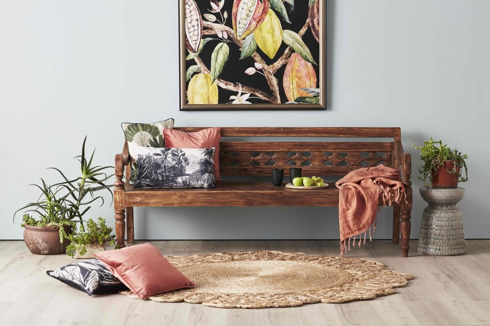 The Ancient Indonesian Craft of Carved Teak Day Beds bench