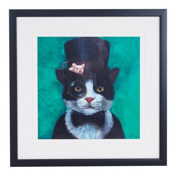 kids bedroom makeover with the Arthouse Tuxedo Cat Print