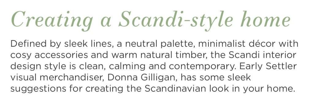 Scandi style