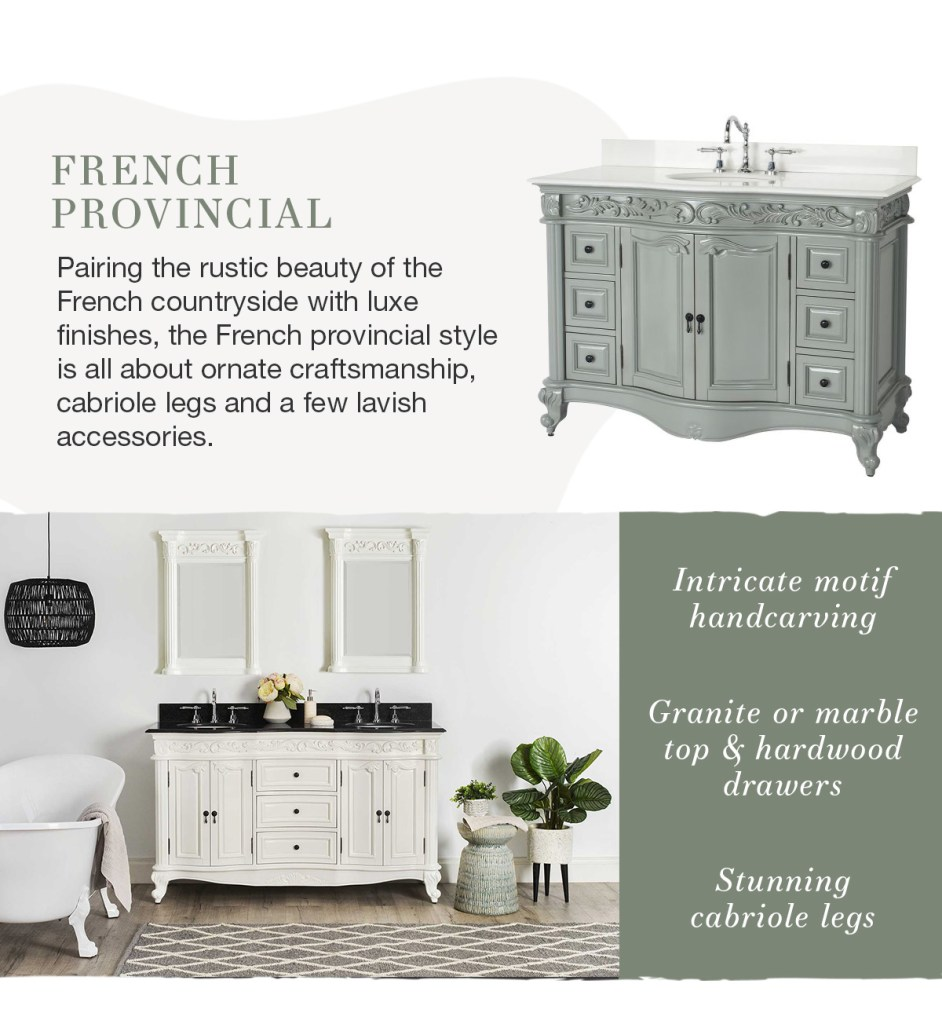 What's Your Style: Bathrooms french provincial