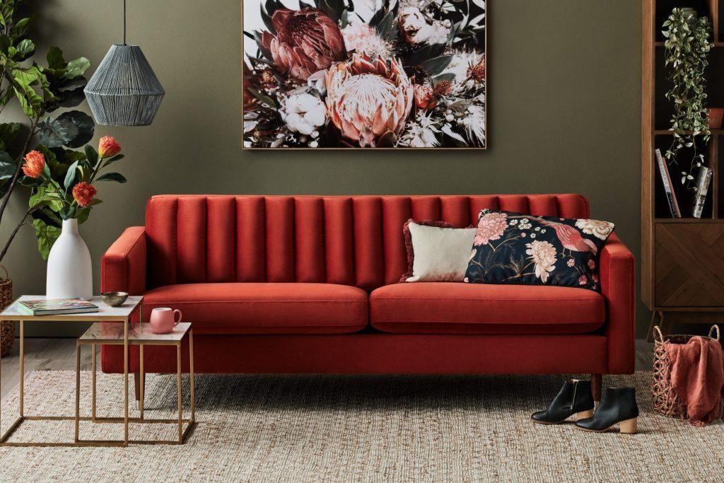 Up the Luxe with the Stitch Velvet Sofa - hero velvet sofa