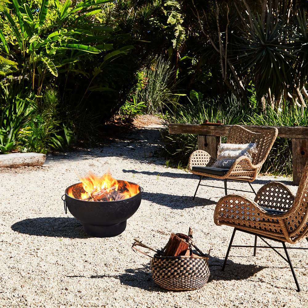Warm Up Winter With a Fire Pit - location of fire pit