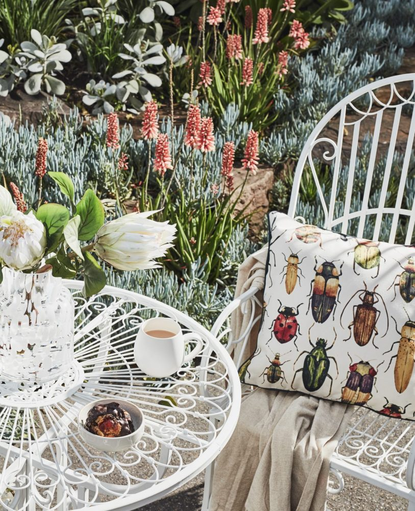 Outdoor Cushions in 6 Stylish Themes with the outdoor bistro set and beetle cushions