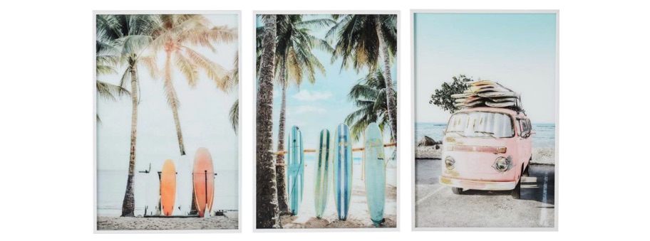 How to create a gallery wall - beach series