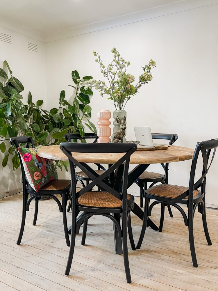 Style Challenge: Katrina Chambers with the Provincial Cross Back dining chairs