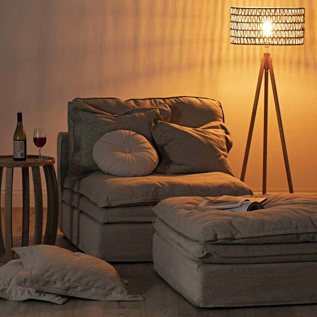 5 Ways to Warm Up Your Winter Style with the Slouch sofa and mood lighting