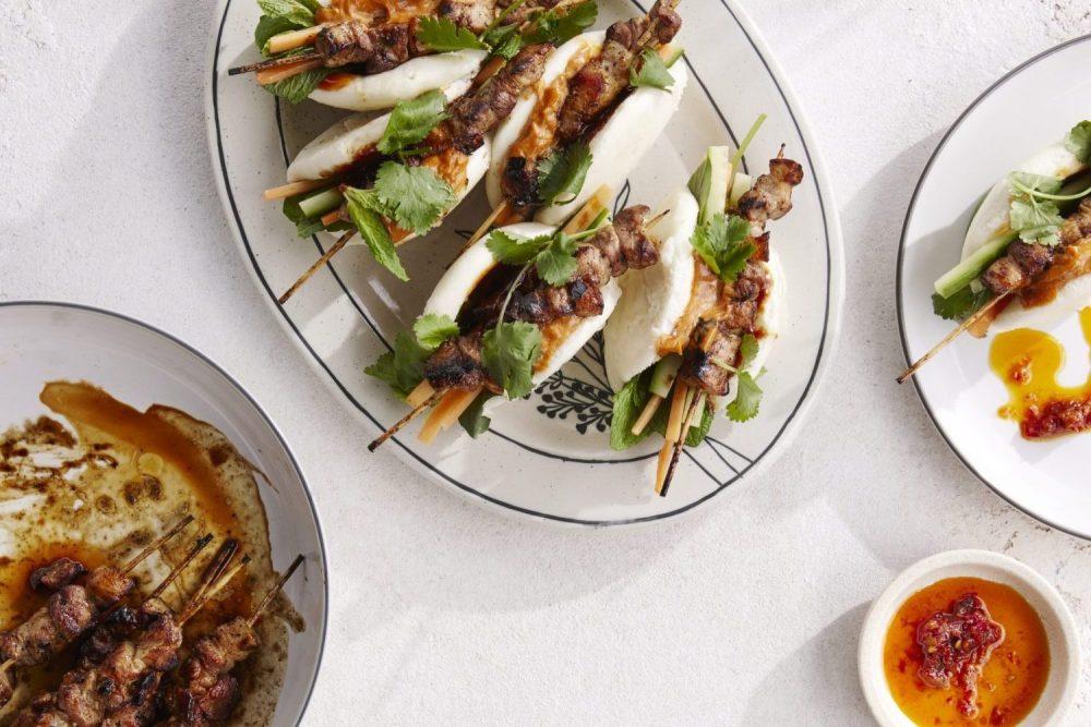 Summer Recipes by Chef Laura Sharrad with pork buns