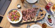 Spiced BBQ Sirloin Beef, Tomato & Onion Salad by Chef Alison Lambert
