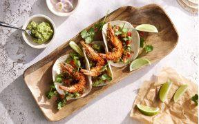 Fried Prawn Tacos by Chef Laura Sharrad