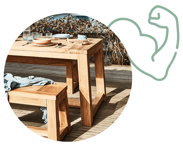 Our Favourite Table: Reclaimed Teak - it's really strong